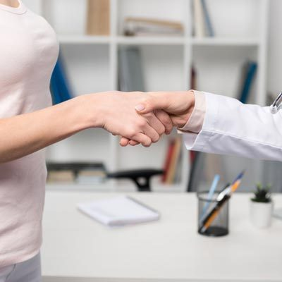 Chiropractic Bancroft IA Doctor Shaking Patients Hand
